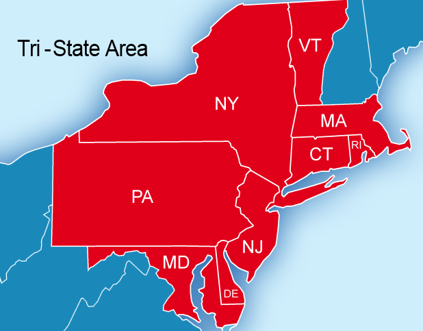 Printable Map Of New York Tri State Area Pictures To Pin
